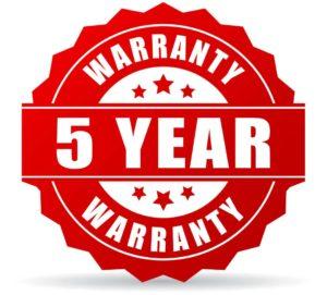 Five Year Warranty